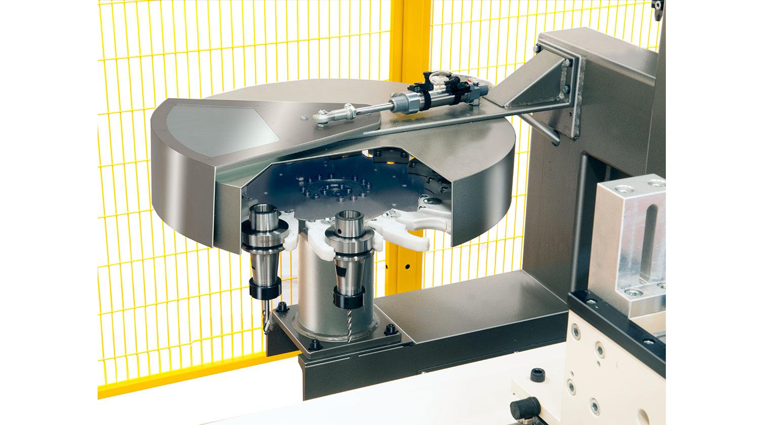 INT aluminum CNC Mecal FM 311 fabrication centre rotative tool magazine 1