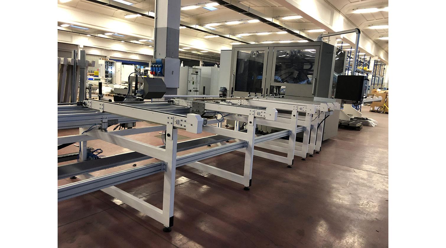 INT aluminum CNC Mecal MC 316 fabrication centre loading table 1