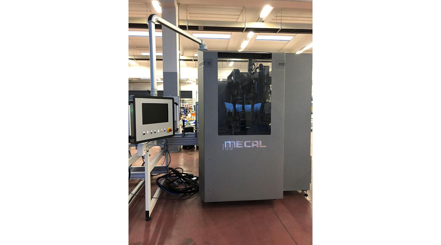 INT aluminum CNC Mecal MC 316 fabrication centre operator interface 1