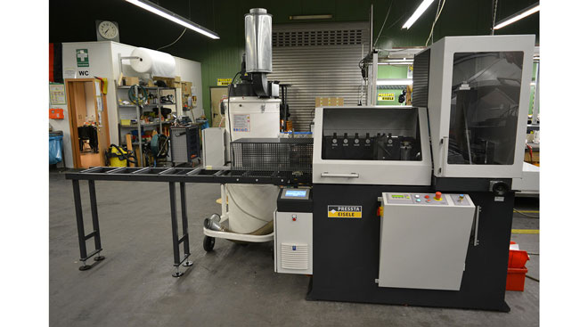 INT aluminum automatic cutting and drilling tapping Pressta Eisele Profilma 501 BG Thumb