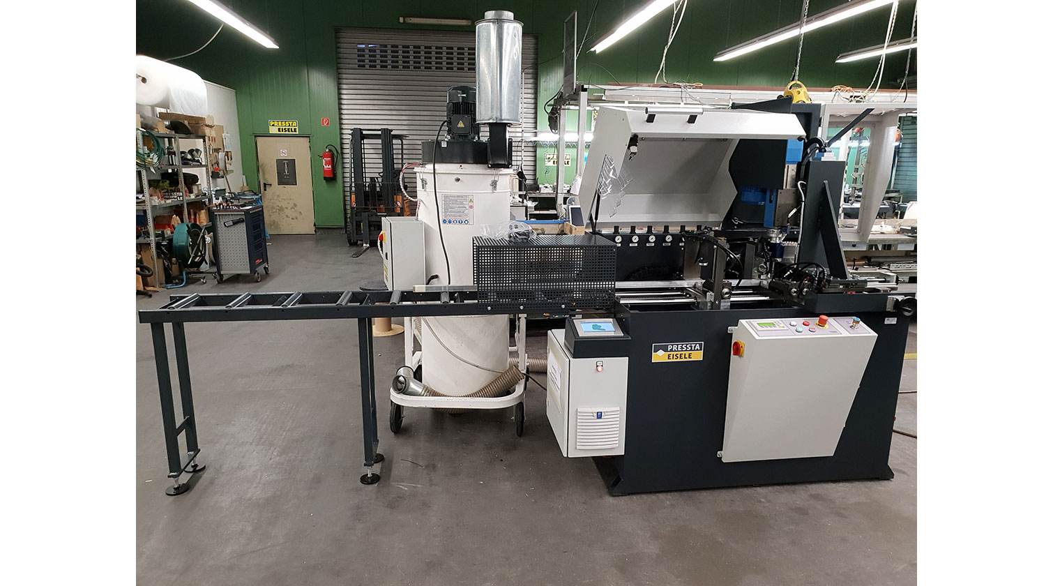 INT aluminum automatic cutting and drilling tapping Pressta Eisele Profilma 501 BG a