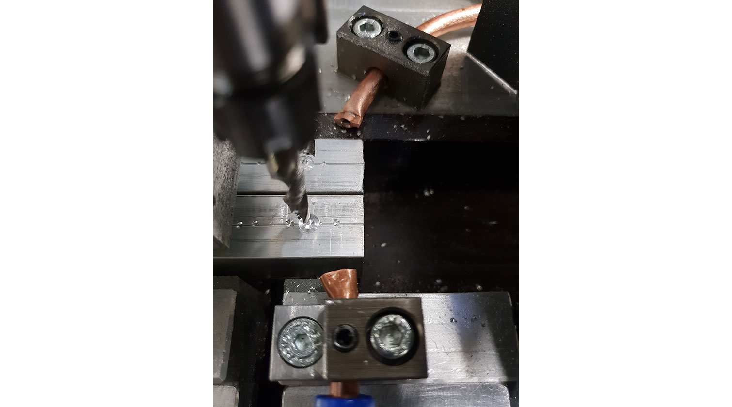 INT aluminum automatic cutting and drilling tapping Pressta Eisele Profilma 501 BG drilling tapping bits b