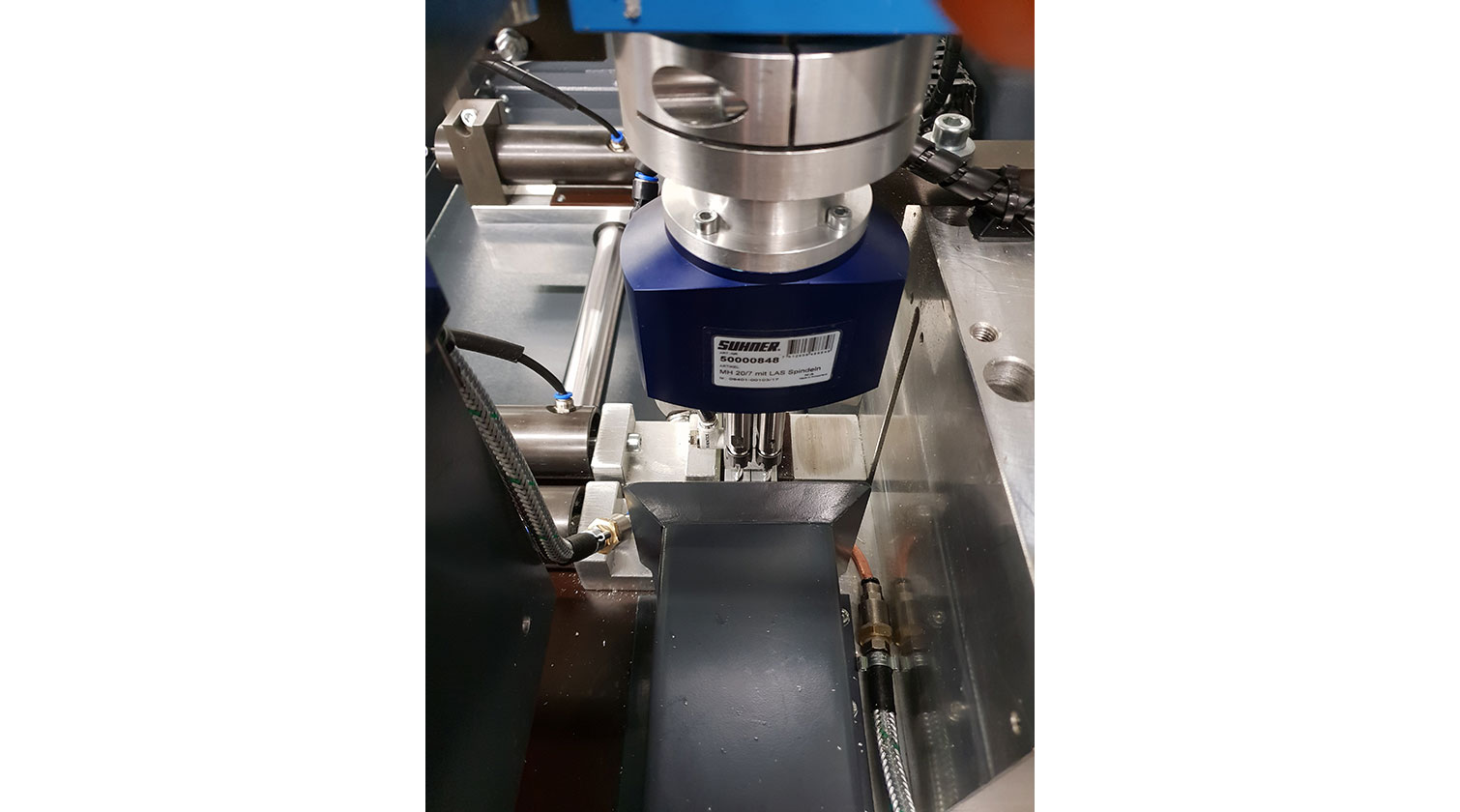 INT aluminum automatic cutting and drilling tapping Pressta Eisele Profilma 501 BG drilling tapping spindle