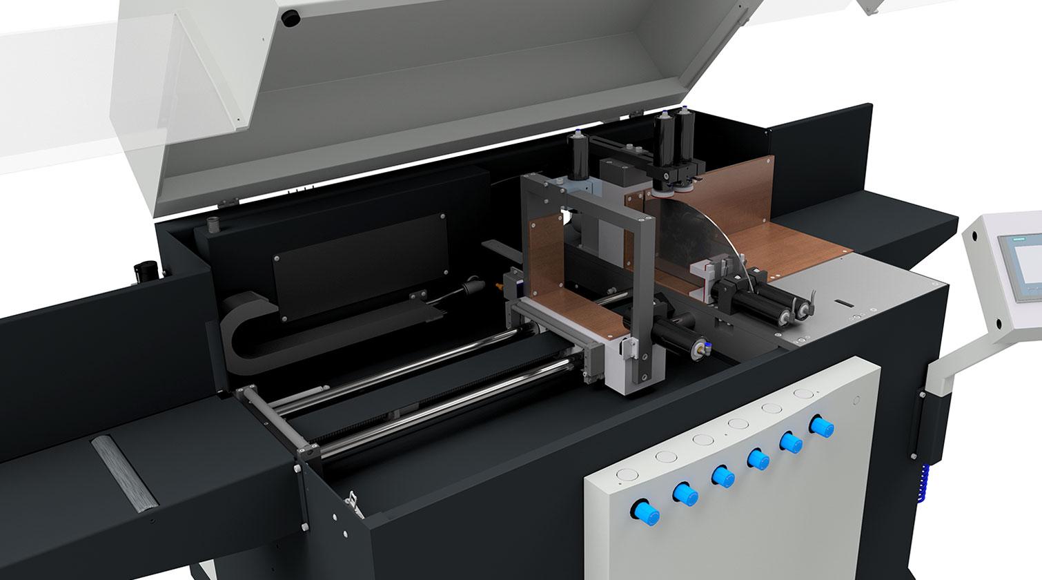 INT aluminum automatic saw Pressta Eisele Profilma 502 feeding system