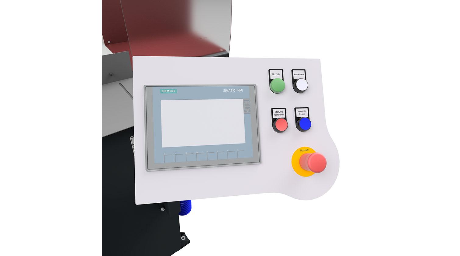 INT aluminum automatic saw Pressta Eisele Profilma 502 operator interface