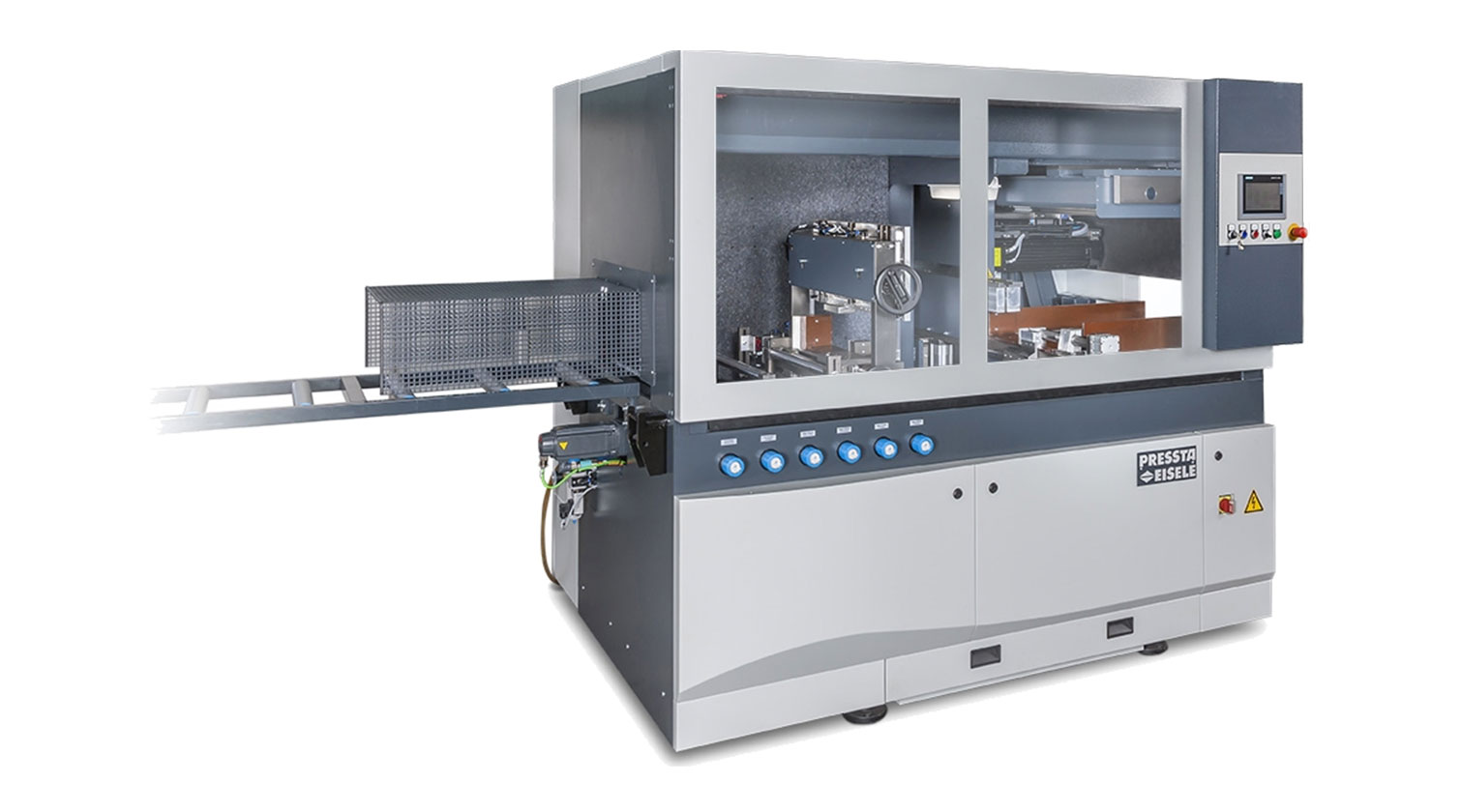 INT aluminum cutting centre Pressta Eisele Profilma 620 door closed