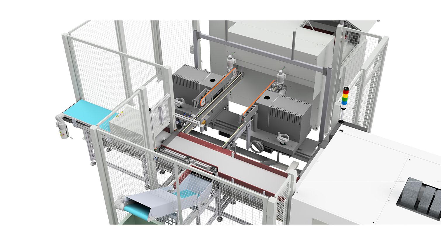 INT aluminum cutting centre Pressta Eisele Profilma 620 laser marking