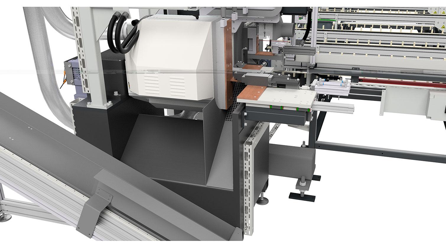 INT aluminum cutting centre Pressta Eisele SW 600 cutting area b