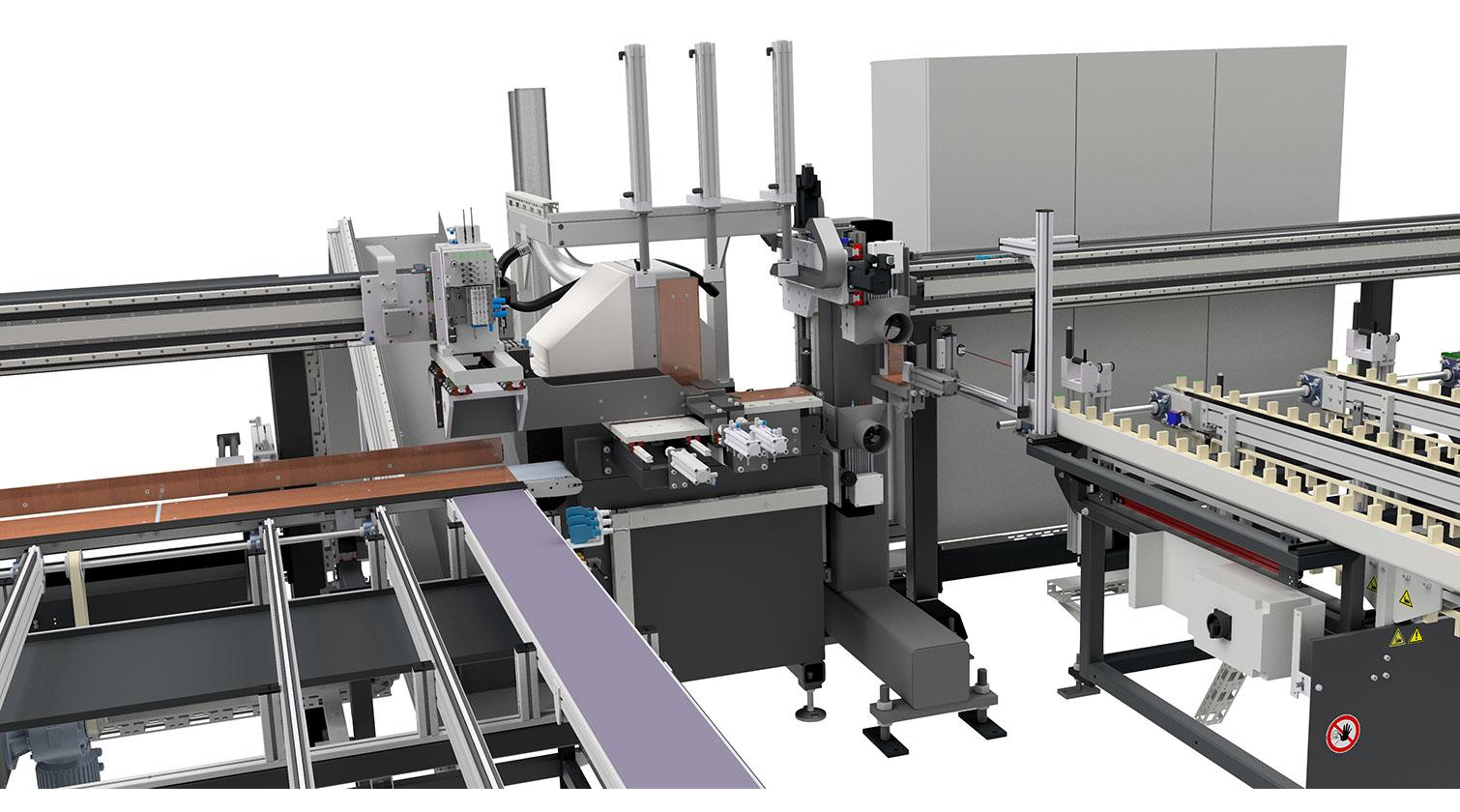 INT aluminum cutting centre Pressta Eisele SW 600 cutting area c