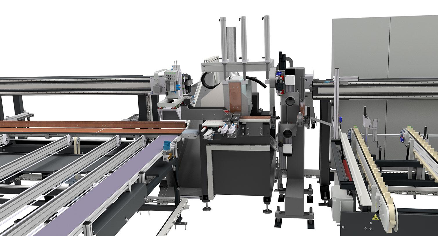 INT aluminum cutting centre Pressta Eisele SW 600 cutting area d