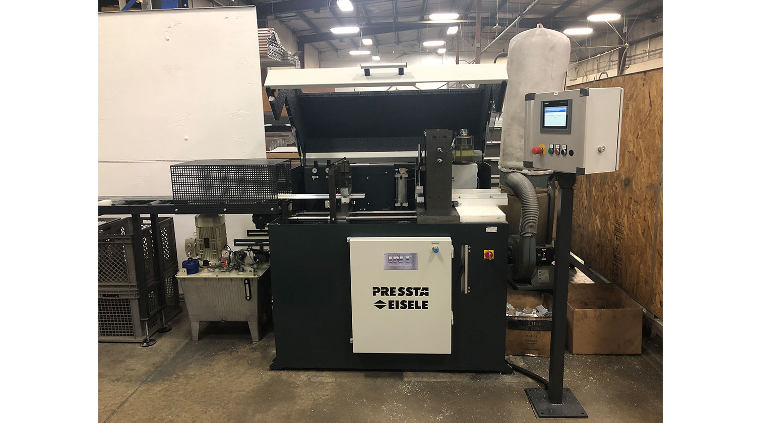 INT aluminum cutting punching centre Pressta Eisele Profilma 501 E ST installation in Hamilton ON