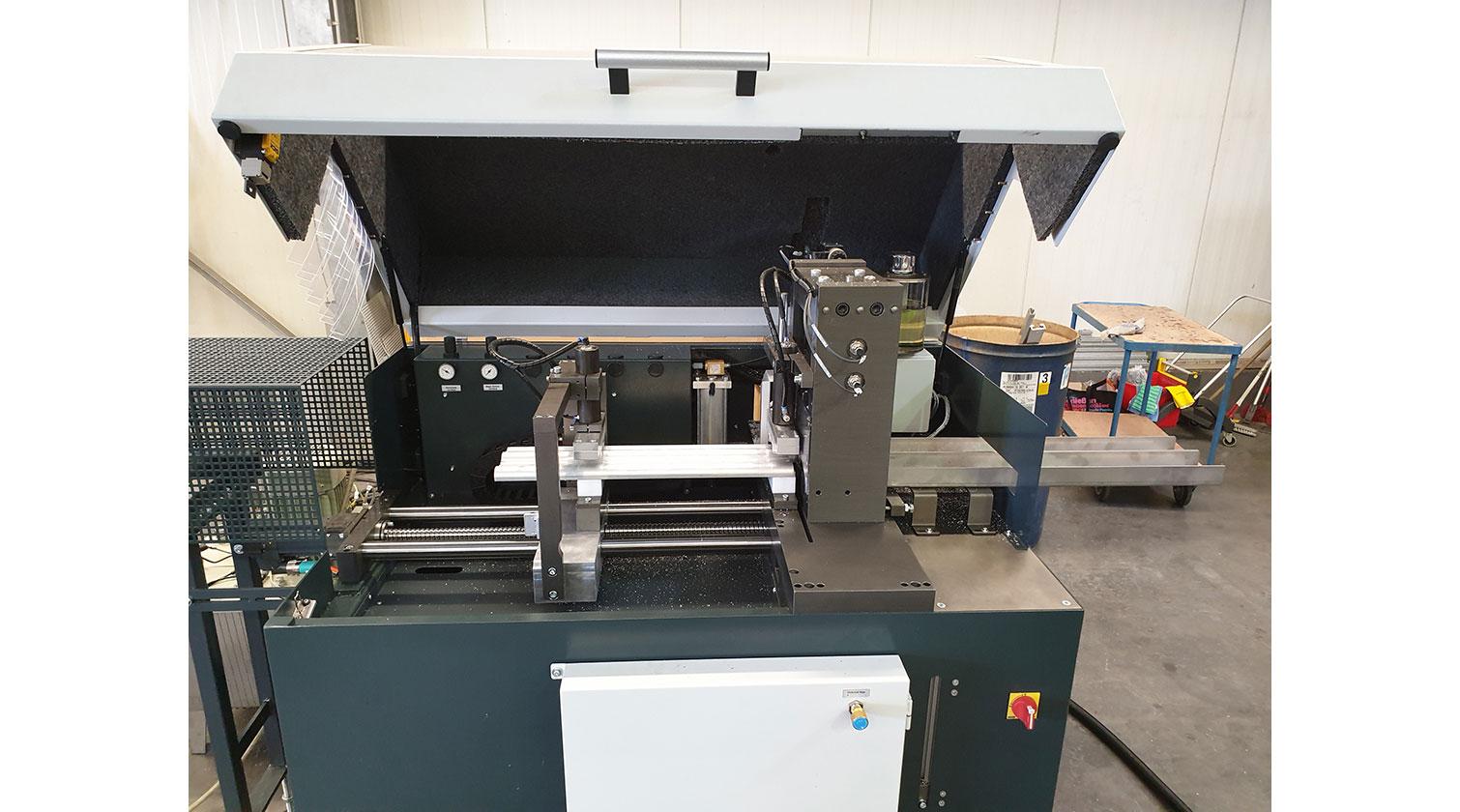 INT aluminum cutting punching centre Pressta Eisele Profilma 501 E ST machine open