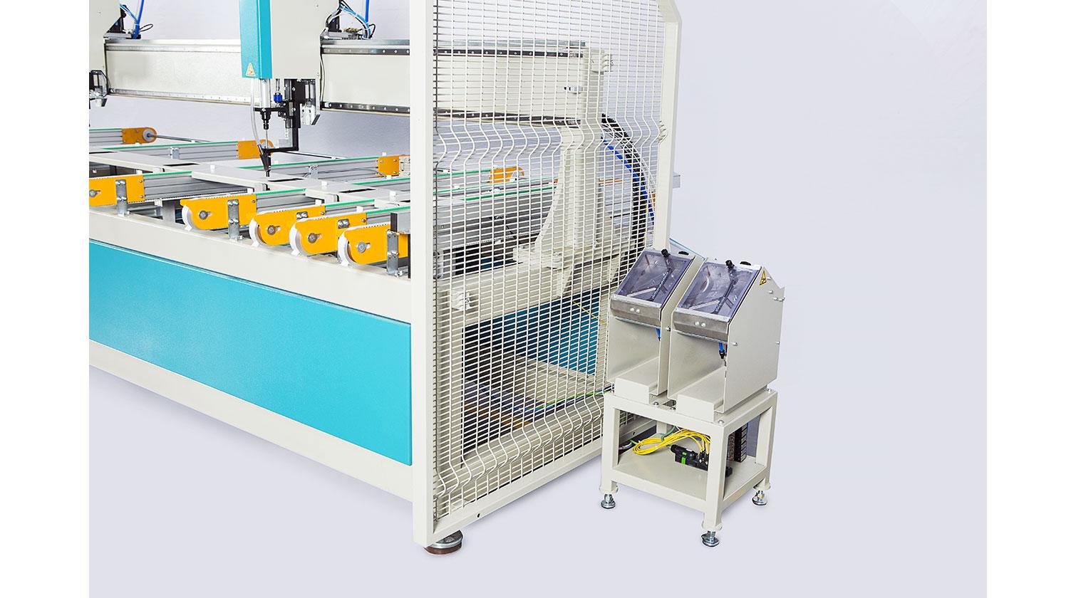 INT pvc reinforcement screwing Yilmaz SM 1000 screw feeders