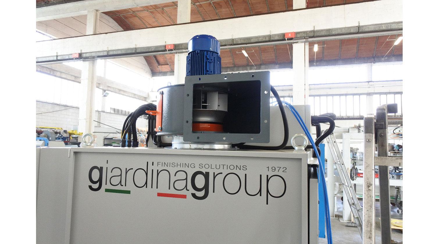 INT pvc windows paint line Giardina 1VE Eco exhaust fan