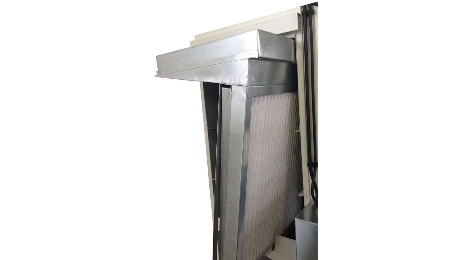 INT pvc windows paint line Giardina 1VE Eco filters