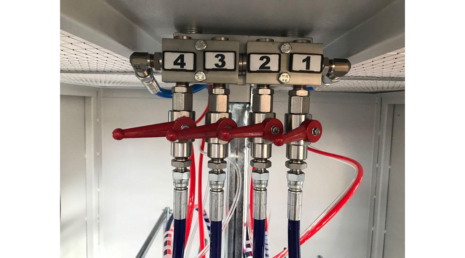 INT pvc windows paint line Giardina 1VE Eco manifold